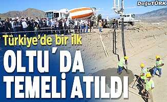 Türkiye'de bir ilk; Temeli Erzurum'da atıldı
