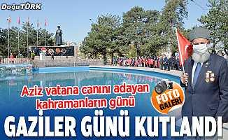 """Erzurum'da """"19 Eylül Gaziler Günü"""" törenle kutlandı"""