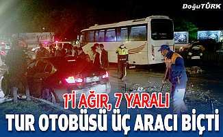 Erzurum'da zincirleme trafik kazası: 1'i ağır 7 yaralı