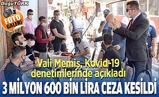 Erzurum'da Kovid-19 tedbirleri denetimi