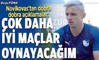 Erzurumsporlu Arvydas Novikovas, takımıyla ligde üst sıraları hedefliyor