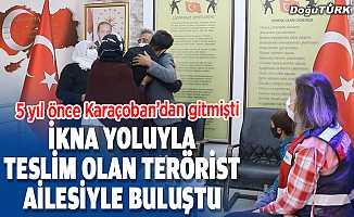 İkna yoluyla teslim olan terörist Erzurum'da ailesiyle buluştu