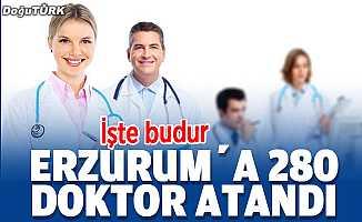İşte budur; Erzurum'a 280 doktor atandı