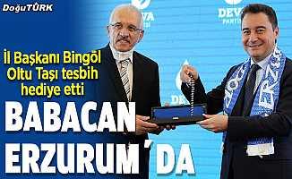 Ali Babacan, Erzurum'da konuştu