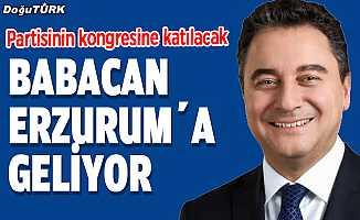 Babacan Erzurum'a geliyor