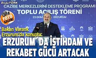 Bakan Varank: Erzurum, 4 mevsim turist çeksin istiyoruz