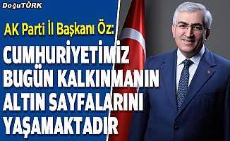 Başkan Öz'den Cumhuriyet Bayramı mesajı