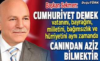 Başkan Sekmen'den Cumhuriyet Bayramı mesajı