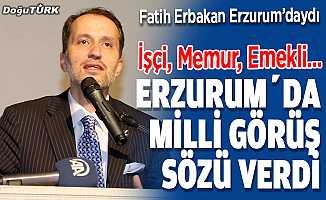 Erbakan, Erzurum'da milli görüş sözü verdi