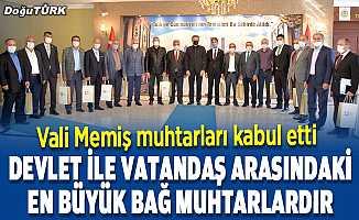 Erzurum Valisi Memiş muhtarları kabul etti