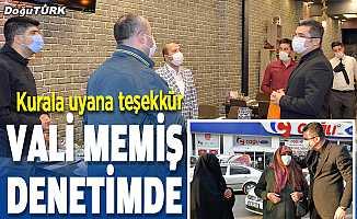 Erzurum Valisi Okay Memiş, Kovid-19 denetimlerine katıldı