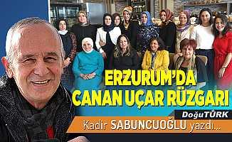 ERZURUM'DA CANAN UÇAR RÜZGARI