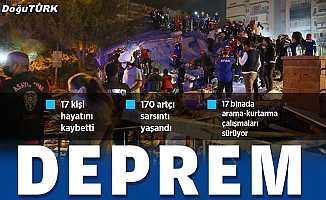 İzmir'de 6,6 büyüklüğünde deprem: 17 kişi hayatını kaybetti