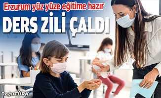 Maskeli eğitim için ders zili günü