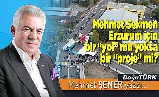 """Mehmet Sekmen Erzurum için bir """"yol"""" mu yoksa bir """"proje"""" mi?"""