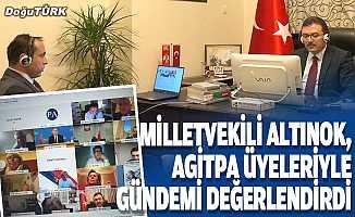 AK Parti Erzurum Milletvekili Altınok, AGİTPA üyeleriyle gündemi değerlendirdi