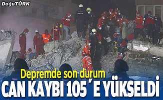İzmir'deki depremde can kaybı 105'e yükseldi
