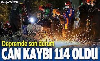 İzmir'deki depremde can kaybı 114'e yükseldi