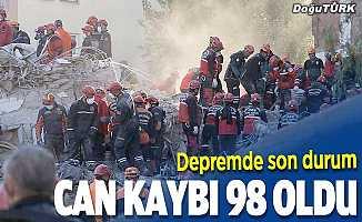 İzmir'deki depremde can kaybı 98'e yükseldi