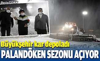 """""""Kar depolama"""" uygulamasıyla Palandöken'de kayak sezonu erken açılacak"""