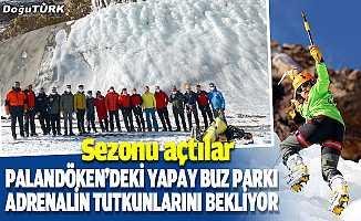 Palandöken'deki yapay buz parkı adrenalin tutkunlarını bekliyor