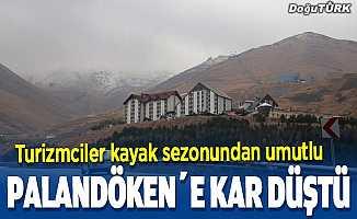 Palandöken Kayak Merkezi'ne mevsimin ilk karı düştü