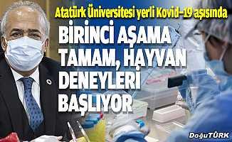 Atatürk Üniversitesi yerli Kovid-19 aşısında hayvan deneylerine başlayacak