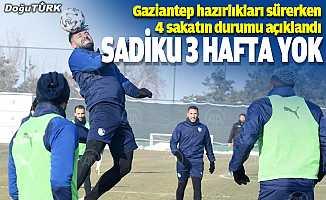 BB Erzurumspor'da Sadiku 3 hafta sahalardan uzak kalacak