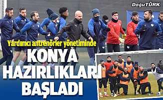 BB Erzurumspor, Konyaspor maçı hazırlıklarına başladı
