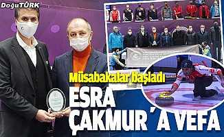 """Erzurum'da """"Esra Çakmur Curling 2. Lig Müsabakaları"""" başladı"""