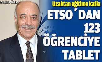 ETSO'dan 123 öğrenciye tablet