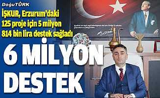 İŞKUR, Erzurum'daki 125 proje için 5 milyon 814 bin lira destek sağladı