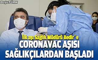 CoronaVac aşısı sağlıkçılardan başladı