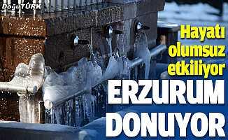 Dondurucu soğuklar yaşamı olumsuz etkiliyor
