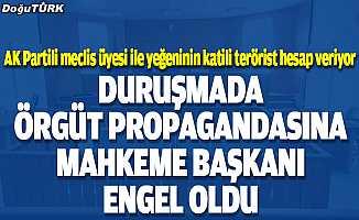 Duruşmada örgüt propagandası yapmak isteyen teröriste mahkeme heyeti başkanı izin vermedi