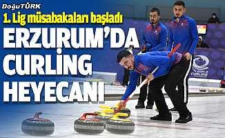 Erzurum'da Türkiye Curling 1. Lig heyecanı