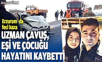 Erzurum'da yolcu otobüsü ile otomobil çarpıştı: 3 ölü