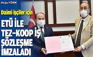 ETÜ ile Tez-Koop İş Sendikası arasında sözleşme imzaladı