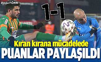 Kıran kırana mücadelede puanlar paylaşıldı: 1-1