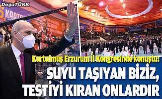 Kurtulmuş, partisinin Erzurum il kongresinde konuştu