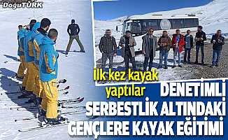 Denetimli serbestlik altındaki gençlere kayak eğitimi