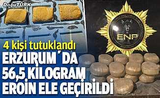 Erzurum'da 56,5 kilogram uyuşturucu ele geçirildi
