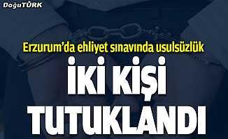Erzurum'da ehliyet sınavında usulsüzlük iddiası...