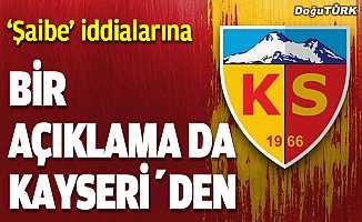 """Kayserispor'dan Erzurumspor'un """"şaibe"""" iddiasına ilişkin açıklama…"""