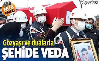 Şehit Jandarma Er Sedat Sorgun Erzurum'da son yolculuğuna uğurlandı