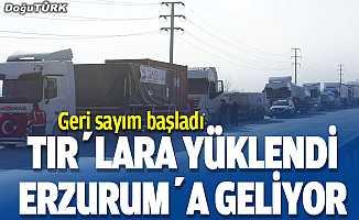 TIR'lara yüklendi, 26 Şubat'ta Erzurum'da…