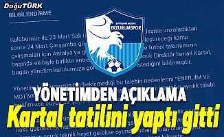 BB Erzurumspor'da İsmail Kartal ile yollar ayrıldı