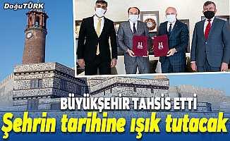 Erzurum Kalesi önündeki konak ETÜ'ye tahsis edildi