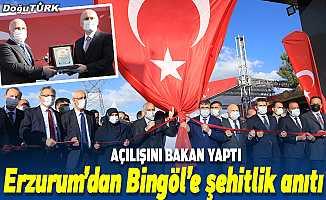 Erzurum'dan Bingöl'e şehitlik anıtı