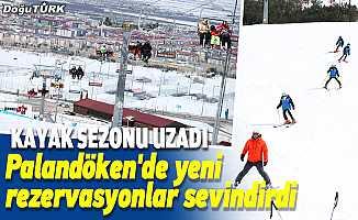 Kayak sezonunun uzadığı Palandöken'de yeni rezervasyonlar sevindirdi